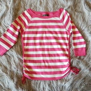 Ralph Lauren Pink and white striped top